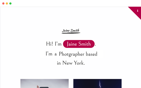 Preview Template Jaine Personal Portfolio