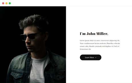 Preview Template Bootstrap Miller Identity