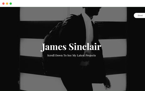Preview Template Sinclair One Page Portfolio